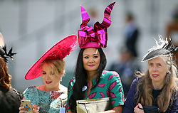 Female racegoers during day three of Royal Ascot at Ascot Racecourse.
