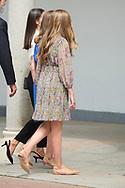 King Felipe VI of Spain, Queen Letizia of Spain, Crown Princess Leonor, Princess Sofia attends for The Confirmation of Princess Leonor at Asuncion de Nuestra Senora Church  on May 28, 2021 in Madrid, Spain