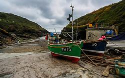 Fishing boats in Portloe, Cornwall