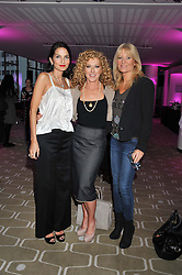 Left to right, YASMIN MILLS, KELLY HOPPEN and GABY ROSLIN at a private view of photographs by Joanna Vestey entitled 'Dreams For My Daughter' in aid of The White Ribbon Alliance, held at The Royal Festival Hall, South Bank, London on 8th March 2012.