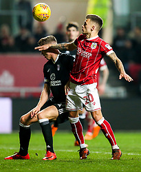 Tom Cairney of Fulham and Jamie Paterson of Bristol City compete for the ball - Rogan/JMP - 21/02/2018 - Ashton Gate Stadium - Bristol, England - Bristol City v Fulham - Sky Bet Championship.