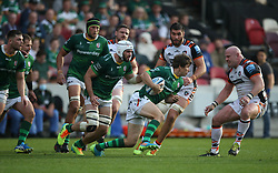 London Irish's Benhard Janse van Rensburg (centre) runs with the ball during the Gallagher Premiership match at the Brentford Community Stadium, London. Picture date: Saturday October 9, 2021.