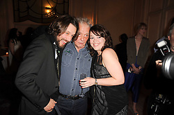 Centre, DAVID BAILEY at a dinner hosted by Vogue in honour of photographer David Bailey at Claridge's, Brook Street, London on 11th May 2010.