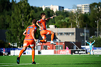 Fotball , Eliteserien<br /> 12.07.2021 , 20210712<br /> Grorud - Aalesund<br /> Aalesunds Sigurd Hauso Haugen jubler etter å ha scoret målet til 2-0 <br /> Foto: Sjur Stølen / Digitalsport