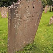 Crooked Headstone - Avebury, UK