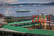 View from rooftop bar at the Inn at the Market hotel in Seattle, Washington