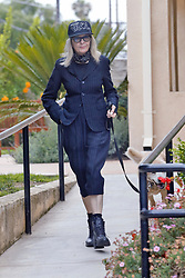 EXCLUSIVE: Diane Keaton takes her dog for a walk in a funky outfit in Los Angeles. 10 Jun 2017 Pictured: Diane Keaton. Photo credit: MEGA TheMegaAgency.com +1 888 505 6342