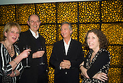 LOUISA BUCK, RICHARD CORK AND WARREN MIRO, Dinner hosted by the Victoria Miro Gallery Serpentine after the opening of the Derek Jarman exhibition curated by isaac Julien. February 2008.  *** Local Caption *** -DO NOT ARCHIVE-© Copyright Photograph by Dafydd Jones. 248 Clapham Rd. London SW9 0PZ. Tel 0207 820 0771. www.dafjones.com.