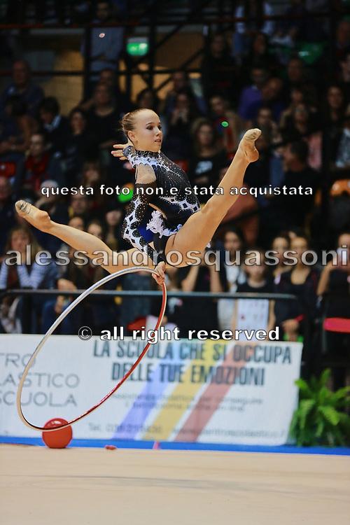 Denise Peracca atleta della società Virtus di Gallarate durante la seconda prova del Campionato Italiano di Ginnastica Ritmica.<br /> La gara si è svolta a Desio il 31 ottobre 2015.