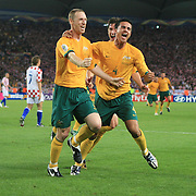 soccer Wo4rld Cup Germany Socceroos  Australia V Croatia  Craig Moore  scores from the penalty spot  230606 Tim Clayton SMH Sport<br /> <br /> Soccer World Cup Germany Socceroos  Australia V Croatia  Craig Moore  scores from the penalty spot  230606 Tim Clayton SMH Sport