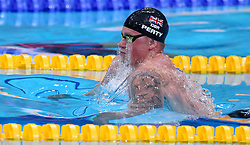 July 26, 2017 - Budapest, Hungary - Great Britain's Adam Peaty competes during  the men's 50m breaststroke final during the swimming competition at the 2017 FINA World Championships in Budapest, on July 26, 2017. (Credit Image: © Foto Olimpik/NurPhoto via ZUMA Press)