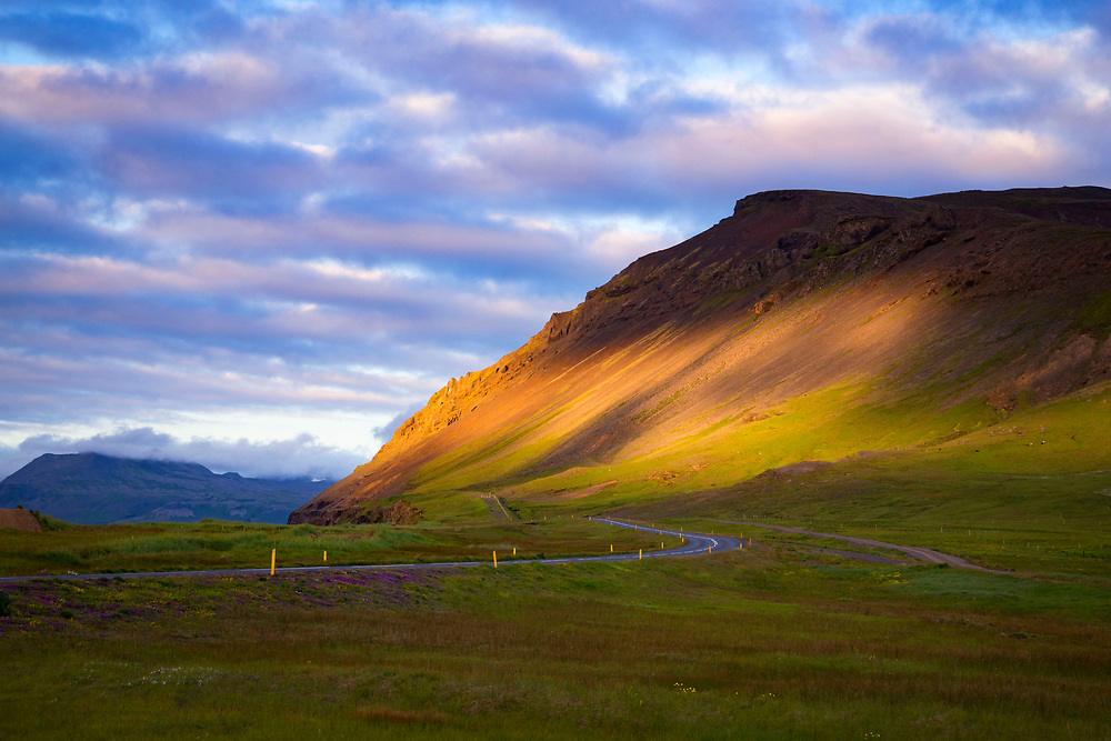 Icelandic mountain at the golden hour, Snaefellsness Peninsula