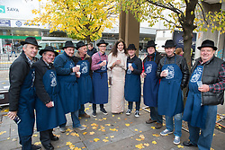 Braci from Malecnik and Slovenian wine queen for year 2019 during martinovanje, St. Martin's Day Celebration on November 11, 2019 in Maribor, Slovenia. Photo by Milos Vujinovic / Sportida