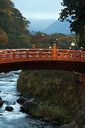 the sacred Shinkyo bridge the old entrance to Nikko