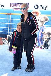July 1, 2018 - Los Angeles, California, USA - 6/30/18.Amber Rose and her son Sebastian Taylor Thomaz at the premiere of ''Hotel Transylvania 3: Summer Vacation'' held at the Westwood Village Theatre in Los Angeles, CA. (Credit Image: © Starmax/Newscom via ZUMA Press)