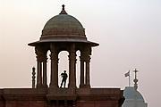 Sentry on duty at Lutyen's designed Parliament, near India Gate, Delhi
