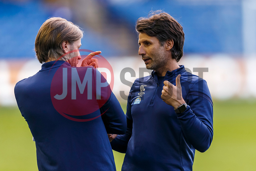 Huddersfield Town Manager Danny Cowley speaks to his Assistant Manager Nicky Cowley - Mandatory by-line: Daniel Chesterton/JMP - 24/06/2020 - FOOTBALL - Hillsborough - Sheffield, England - Sheffield Wednesday v Huddersfield Town - Sky Bet Championship