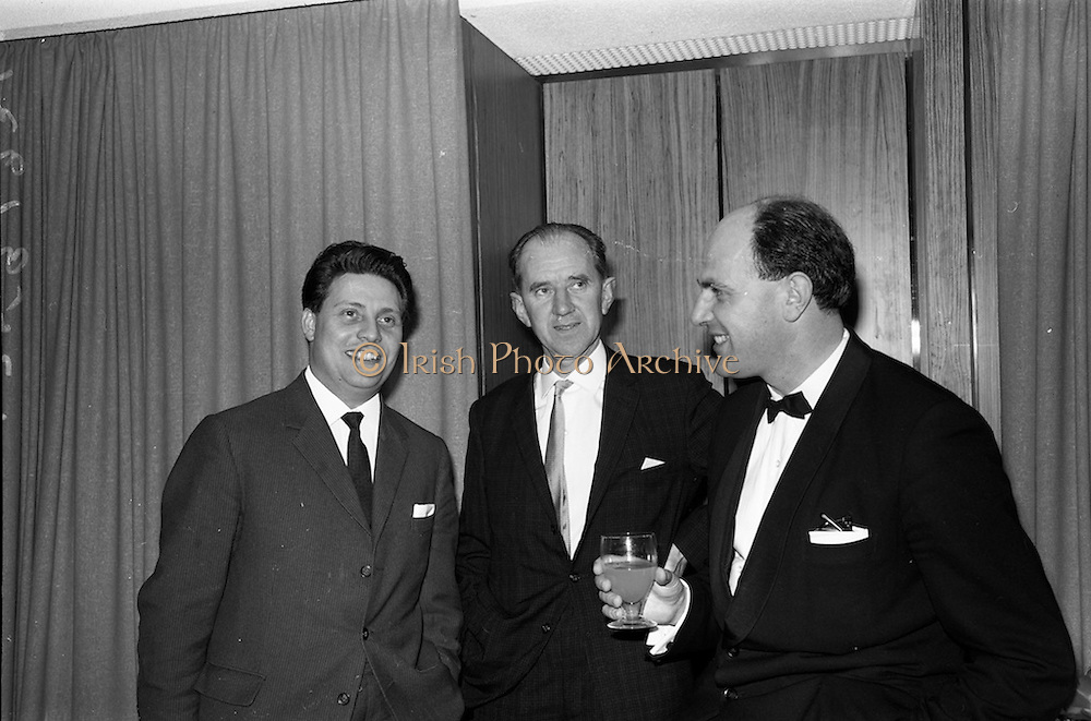 28/04/1964<br /> 04/28/1964<br /> 28 April 1964<br /> Opening of Jury's Hotel new ballroom. Pictured at the opening were (l-r): Mr. Willie Opperman, General manager, Jury's Hotel Ltd.; Mr. Bobby Kerr, Manager and Mr. Joseph N. Kidney, Director and architect, Jury's Hotel.