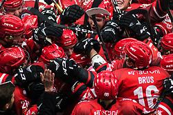 HDD SIJ Jesenice celebrates winning Alps Hockey League match between HC Pustertal and HDD SIJ Jesenice, on April 3, 2019 in Ice Arena Podmezakla, Jesenice, Slovenia. Photo by Peter Podobnik / Sportida