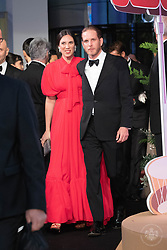 Andrea Casiraghi and his wife Tatiana Casiraghi attend the Rose Ball 2019 at Sporting in Monaco, Monaco.<br /> Photo by Palais Princier/Olivier Huitel/SBM/ABACAPRESS.COM