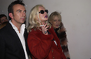 Jibby Beane and  Anita Pallenberg. Donna Karan party at her shop with concert by Debbie Harry. 28 October 2002. © Copyright Photograph by Dafydd Jones 66 Stockwell Park Rd. London SW9 0DA Tel 020 7733 0108 www.dafjones.com