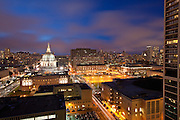 City Hall At Night In San Francisco
