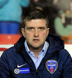 Bristol Academy Womens manager, Dave Edmondson  - Photo mandatory by-line: Joe Meredith/JMP - Mobile: 07966 386802 - 13/11/2014 - SPORT - Football - Bristol - Ashton Gate - Bristol Academy Womens FC v FC Barcelona - Women's Champions League