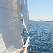 8/15/09 -- sailing aboard Eastward. Photo by Roger S. Duncan © 2009.