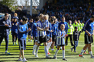 Sheffield Wednesday defender Glenn Loovens (5) and players doing the parade during the Sky Bet Championship match between Sheffield Wednesday and Cardiff City at Hillsborough, Sheffield, England on 30 April 2016. Photo by Phil Duncan.