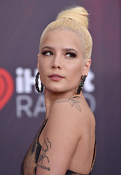 2018 iHeartRadio Music Awards. The Forum, Inglewood, California. Pictured: Marshmello. EVENT March 11, 2018. 11 Mar 2018 Pictured: Halsey. Photo credit: AXELLE/BAUER-GRIFFIN/MEGA TheMegaAgency.com +1 888 505 6342