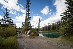 Trail Riding, Banff, Warner Stables<br /> CSIO 5* Spruce Meadows Masters - Calgary 2016<br /> © Hippo Foto - Dirk Caremans<br /> 09/09/16