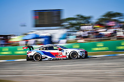March 14, 2019 - Sebring, Etats Unis - 25 BMW TEAM RLL (USA) BMW M8 GTE GTLM TOM BLOMQVIST (GBR) CONNOR DE PHILLIPPI (USA) COLTON HERTA  (Credit Image: © Panoramic via ZUMA Press)