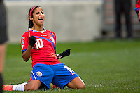 Fifa Womans World Cup Canada 2015 - Preview //- <br /> Costarica Womans Team - <br /> Shirley Cruz of Costarica , celebrates after his goal