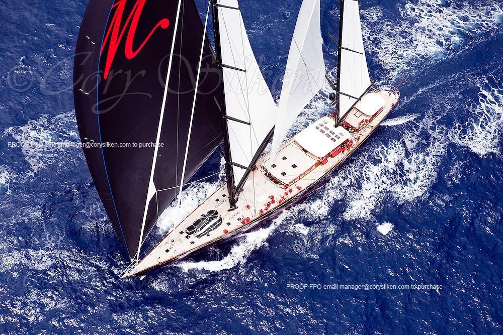 Marie sailing in the Butterfly Race during the 2011 Antigua Classic Yacht Regatta.