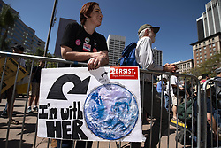 April 14, 2018 - Los Angeles, California, United States - People take part in the March for Science in Los Angeles, California on April 14, 2018. (Credit Image: © Ronen Tivony/NurPhoto via ZUMA Press)