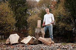 Man chopping wood