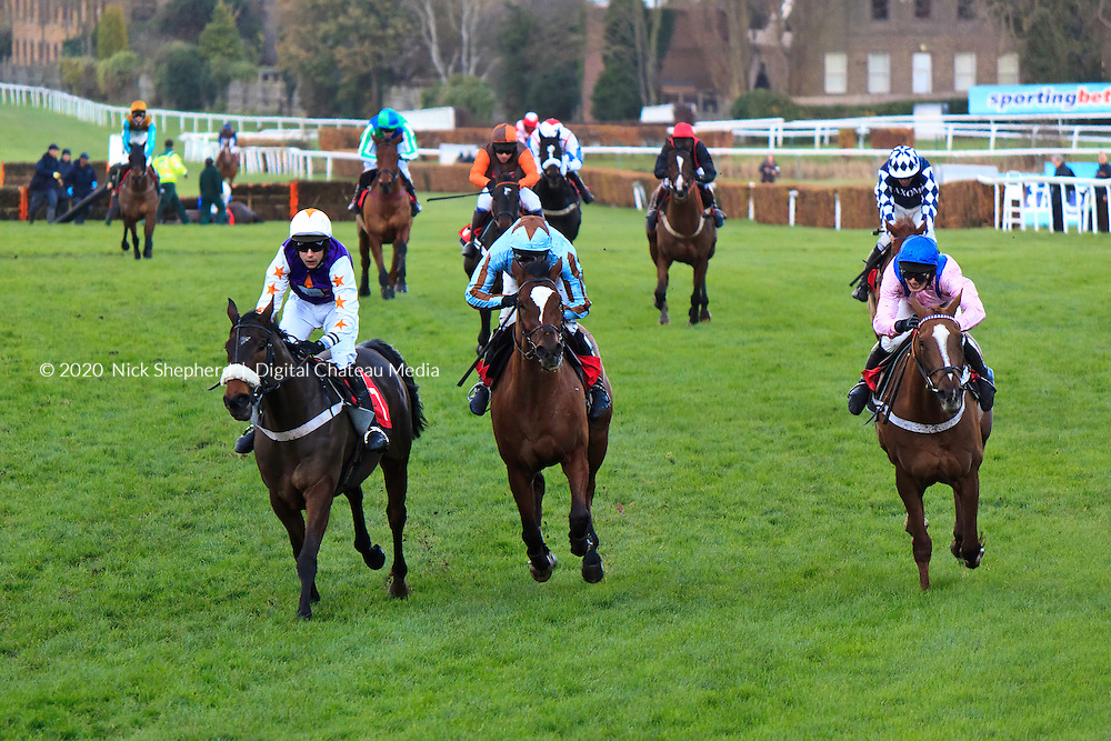 Ubi Ace ridden by Robert Walford wins the Bavaria Imported Premium Lager Handicap Hurdle at Sandown Park Racecourse, Esher, Surrey - 03.12.2011 - EDITORIAL USE ONLY