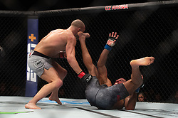 March 16, 2019 - London, United Kingdom - Mike Grundy beats Nad Narimani during UFC Fight Night 147 at the London O2 Arena, Greenwich on Saturday 16th March 2019. (Credit Image: © Mi News/NurPhoto via ZUMA Press)