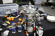 The play off trophy during the Vanarama National League Play Off Final match between Tranmere Rovers and Forest Green Rovers at Wembley Stadium, London, England on 14 May 2017. Photo by Shane Healey.