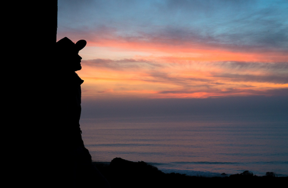 Watching the sunset from the barn at the Needle Rock Visitors' Center