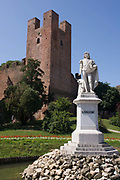 Statue of Italian painter Giorgione (1477/1510) in Castelfranco Veneto, Italy. Giorgione born Giorgio Barbarelli da Castelfranco was an Italian painter of the Venetian school in the High Renaissance from Venice, whose career was cut off by his death at a little over 30. Giorgione is known for the elusive poetic quality of his work, though only about six surviving paintings are acknowledged for certain to be his work. Together with Titian, who was slightly younger, he is the founder of the distinctive Venetian school of Italian Renaissance painting, which achieves much of its effect through colour and mood, and is traditionally contrasted with the reliance on the more linear disegno-led style of Florentine painting.