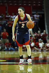 24 March 2011: Alex Gensler during a WNIT (Women's National Invitational Tournament Women's basketball sweet 16 game between the Duquesne Dukes and the Illinois State Redbirds at Redbird Arena in Normal Illinois.