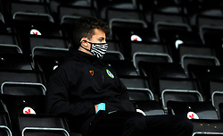 Forest Green Rovers ball boy watches the match from an empty stand- Mandatory by-line: Nizaam Jones/JMP - 16/01/2021 - FOOTBALL - innocent New Lawn Stadium - Nailsworth, England - Forest Green Rovers v Port Vale - Sky Bet League Two