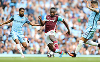 Football - Gael Clichy of Manchester City and Michail Antonio of West Ham during the match at the Etihad Stadium between Manchester City and West Ham United. <br /> <br /> 2016 / 2017 Premier League - Manchester City vs. West Ham United<br /> <br /> -- at The Etihad Stadium.<br /> <br /> COLORSPORT/LYNNE CAMERON