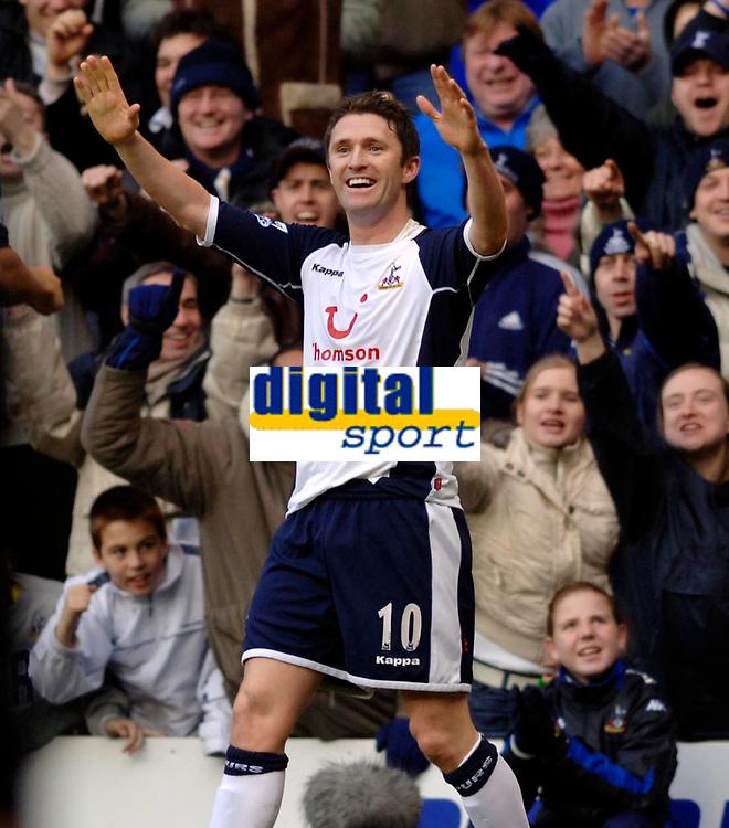 Photo: Daniel Hambury.<br />Tottenham Hotspur v Blackburn Rovers. The Barclays Premiership. 05/03/2006.<br />Tottenham's Robbie Keane celebrates his second goal.