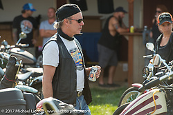 Jonathan Pite at the Led Sled Sportster Show at the Buffalo Chip during the annual Sturgis Black Hills Motorcycle Rally. SD. USA. Tuesday August 8, 2017. Photography ©2017 Michael Lichter.