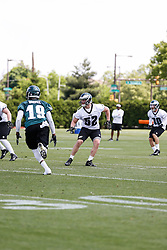 Philadelphia Eagles linebacker Blaze Caponegro #52 during the NFL football rookie camp at the teams practice facility on Saturday, May 17, 2014. (Photo by Brian Garfinkel)