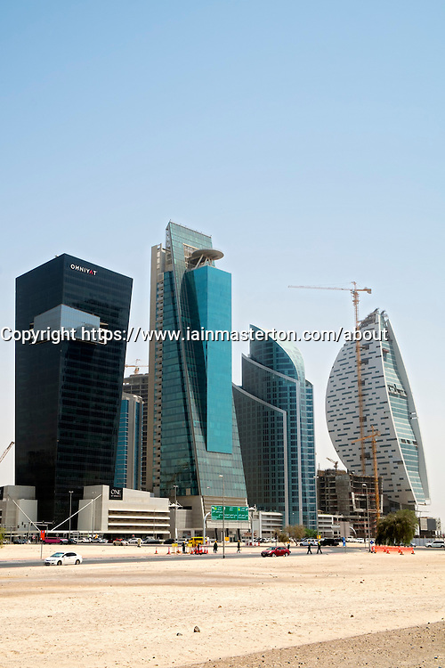 New skyscrapers under construction at Business BAy in Dubai United Arab Emirates