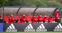 CARDIFF, WALES - Wednesday, September 2, 2020: Wales Under-21 players watch the senior team during a training session at the Vale Resort ahead of the UEFA Nations League Group Stage League B Group 4 match between Finland and Wales. Morgan Boyes. (Pic by David Rawcliffe/Propaganda)