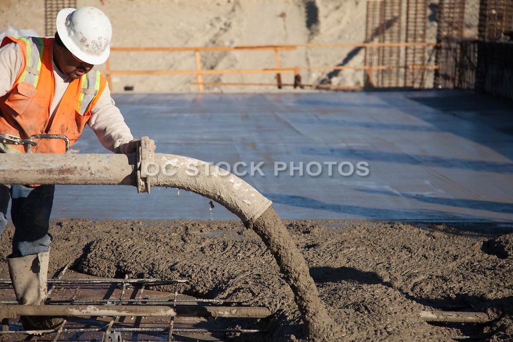 Union Worker Pouring Concrete